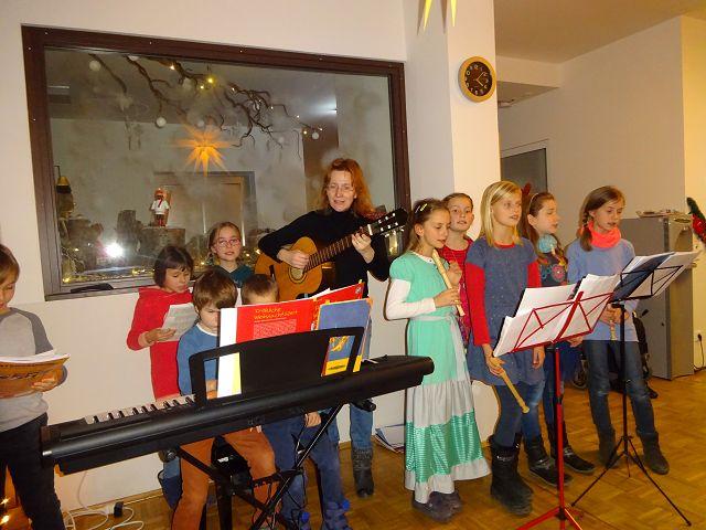 Besuch der Flötenkinder am 21.12.2016