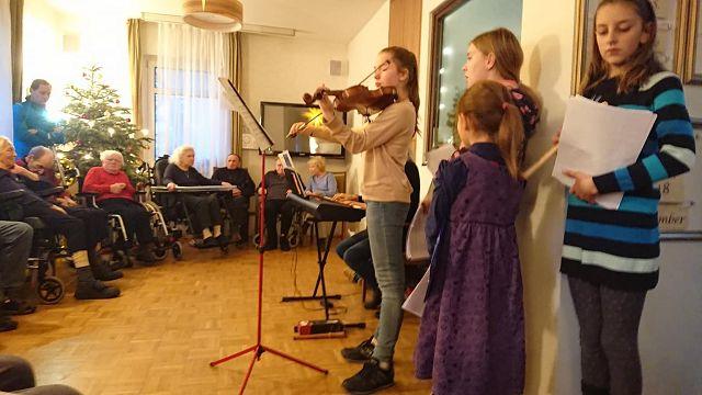 Flötenkinder am 19.12.2018
