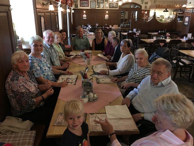 Abendessen im Waldschlößchen am 20.08.2019