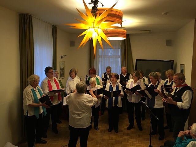 """Seniorenchor """"musica74"""" am 11.12.2019"""
